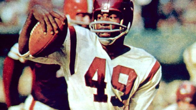 The Washington football team has retired the late Bobby Mitchell's jersey number. Here, he is pictured...