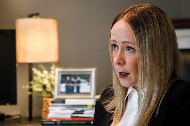 Calgary Police Service Const. Kim Prodaniuk in her home on June