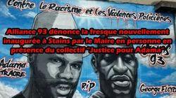 Des policiers appellent à modifier une fresque d'Adama Traoré. Sa soeur dénonce un geste