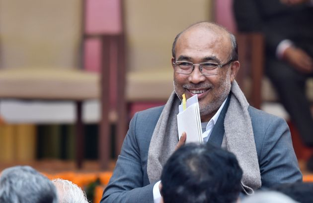 A file photo of Manipur chief minister N Biren