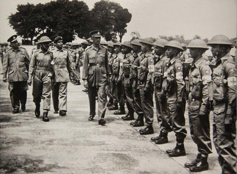 1950년 11월 파병 준비 마친 인도군 모습. 2020년 6월 22일