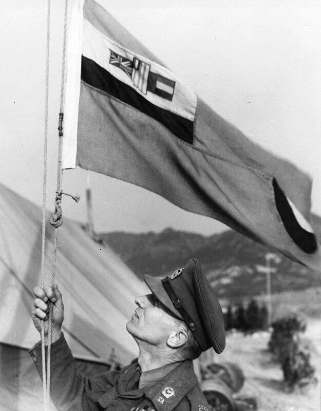 1951년 남아프리카공화국 국기 게양 모습. 2020년 6월 22일