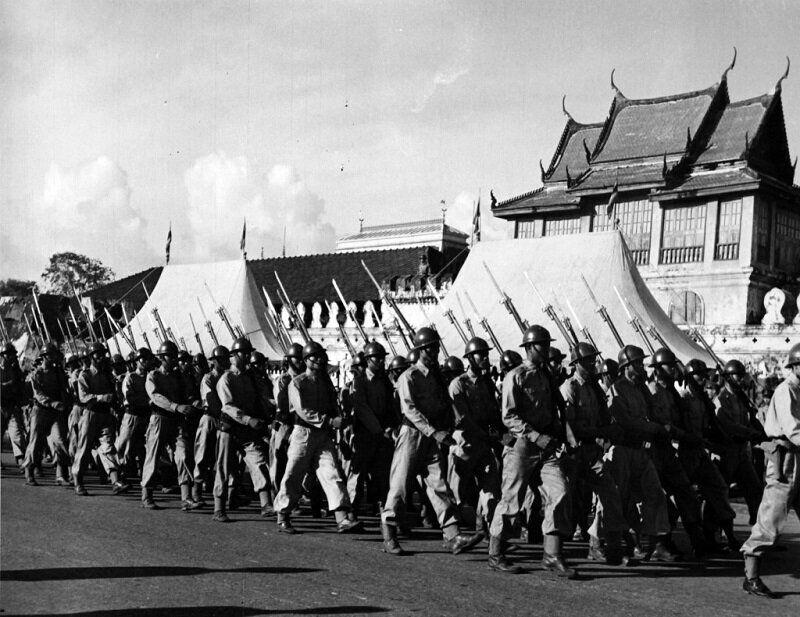 1950년 한국으로 떠나는 타일랜드군 모습. 2020년 6월 22일