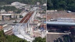 Prima auto attraversa il nuovo Ponte di Genova.