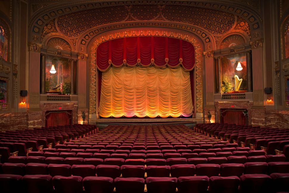 Empty seats in ornate theatre, as theatres across the country and internationally remain shuttered