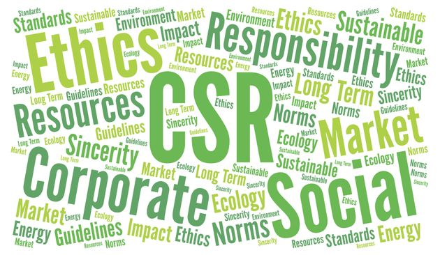CSR corporate social responsibility word