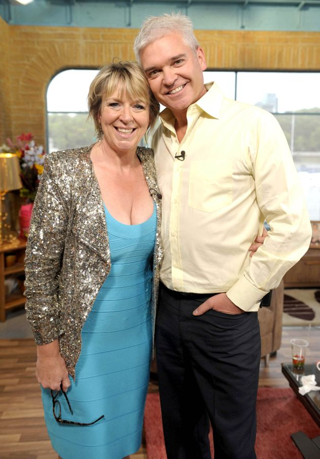 Fern Britton and Phillip Schofield on her last day of presenting the