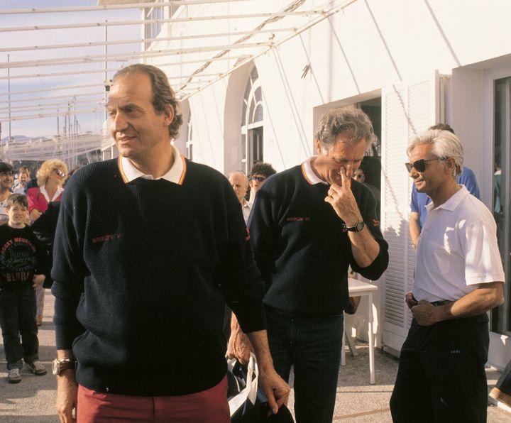 Juan Carlos I y Josep Cusí en Palma a principios de los 90.