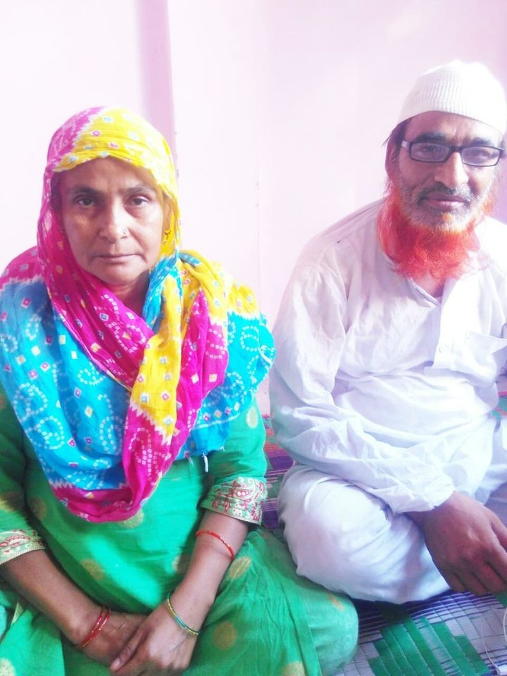 Mustafabad residents Mohammad Ayub (54) and his wife Abida (45) at their home.