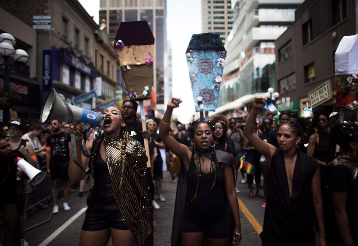 In 2016, Black Lives Matter Toronto halted the Pride parade for 30 minutes to make a number of demands — includinga ban on the attendance of uniformed police.