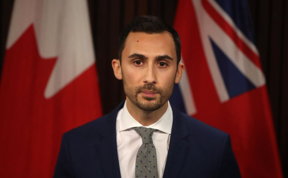 Stephen Lecce, Ontario's minister of education, makes an announcement at Queen's Park on March 3,