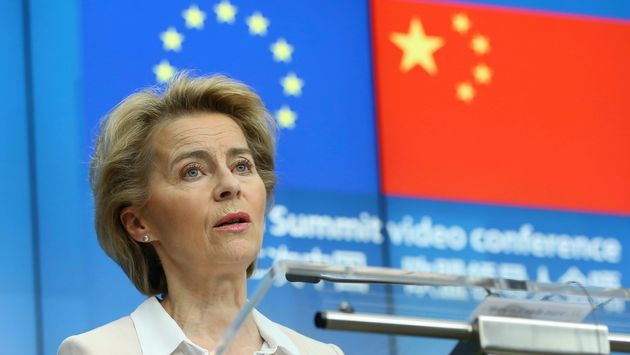 BRUSSELS, BELGIUM - JUNE 22: European Commission President Ursula Von Der Leyen and European Council...