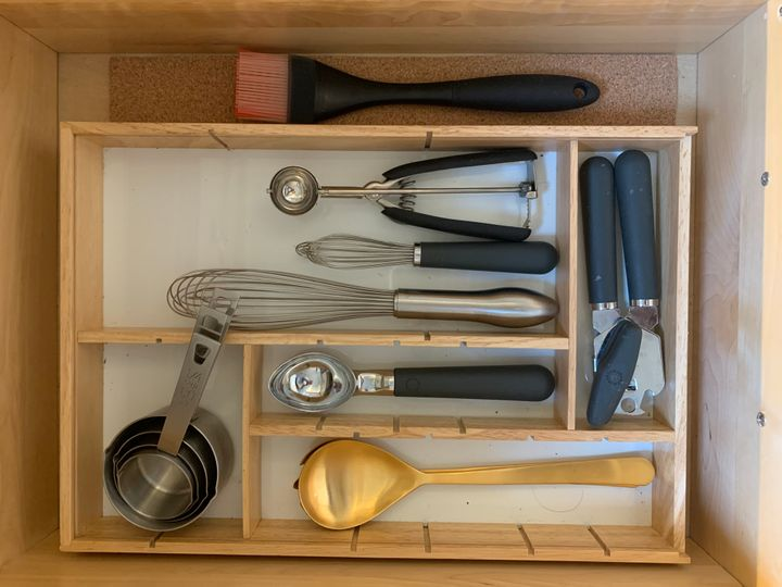 Imagine a drawer this free of clutter. It can be yours, if you just get rid of your avocado slicer and other useless doo-dads.