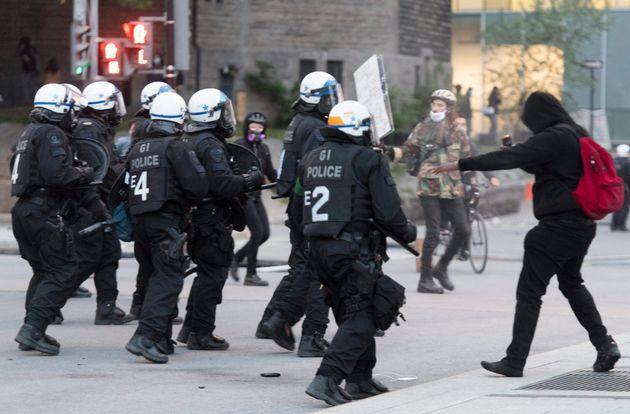 Manifestation à Montréal en soutien à Gorge Floyd, le 31 mai