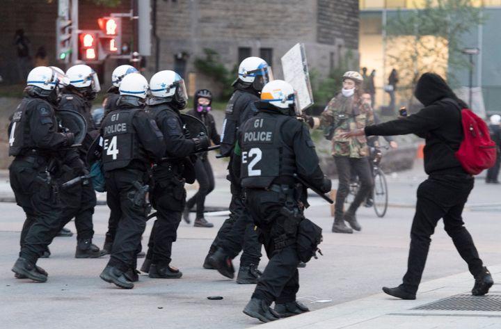 Manifestation à Montréal en soutien à Gorge Floyd, le 31 mai dernier.