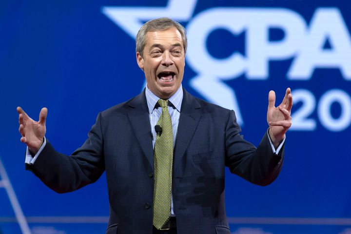 Brexit Party leader and former European Parliament member Nigel Farage speaks at the Conservative Political Action Conference