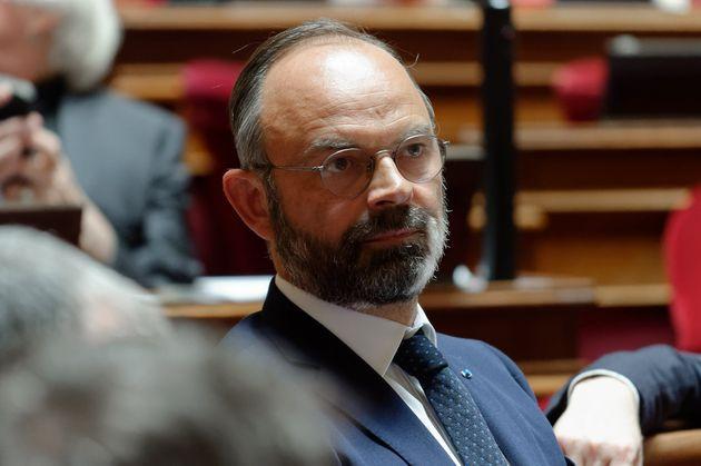 Photo d'illustration d'Édouard Philippe lors des questions au gouvernement au Sénat le...