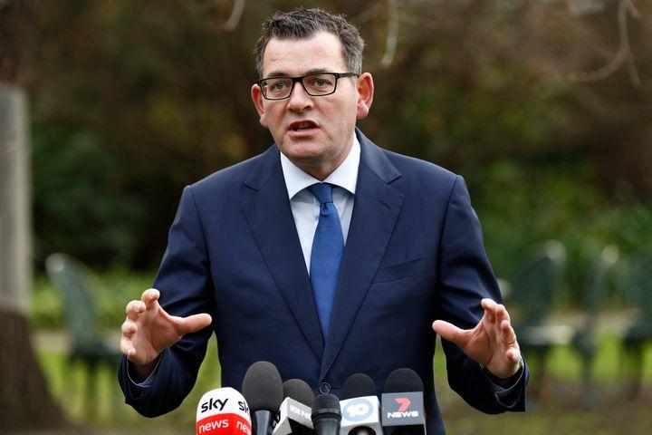 Premier of Victoria Daniel Andrews speaks to the media on June 17, 2020 in Melbourne, Australia.