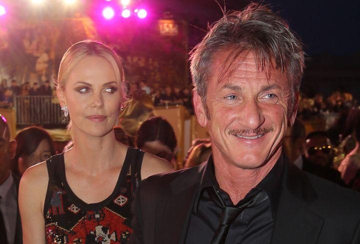 Charlize Theron y Sean Penn, en Viena en 2015.