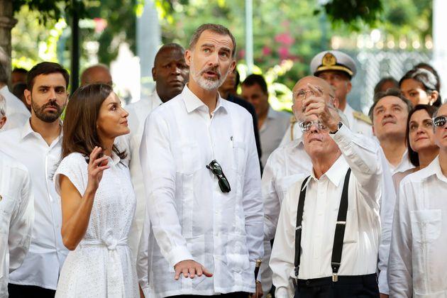 Los reyes en Cuba el 13 de noviembre de