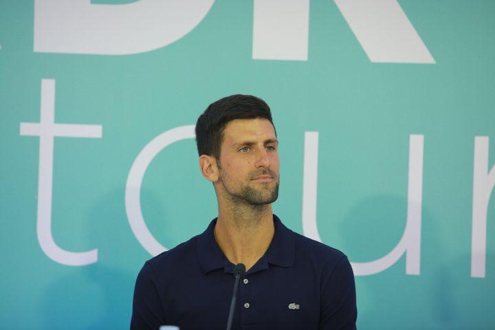 Men's World No. 1 tennis player Novak Djokovic.