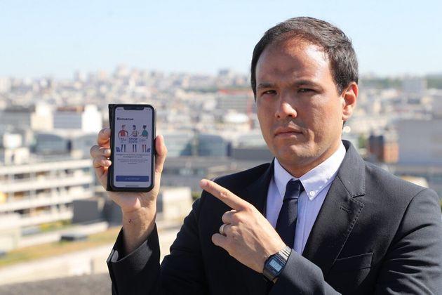 Cédric O, présentant l'application StopCovid à Paris, le 29 mai