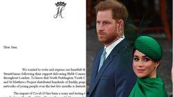 Revuelo en Reino Unido por esta carta de Meghan y Harry: todo por el símbolo de