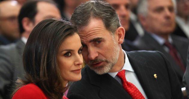 Letizia y Felipe, en un acto