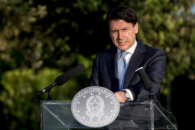 ROME, ITALY - JUNE 21: Italy's Prime Minister Giuseppe Conte holds a press conference at Casina del Bel...