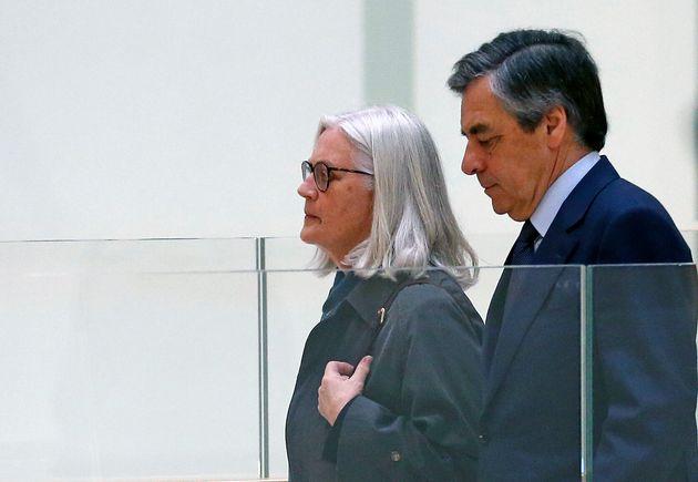 Francois Fillon et Penelope Fillon lors de leur