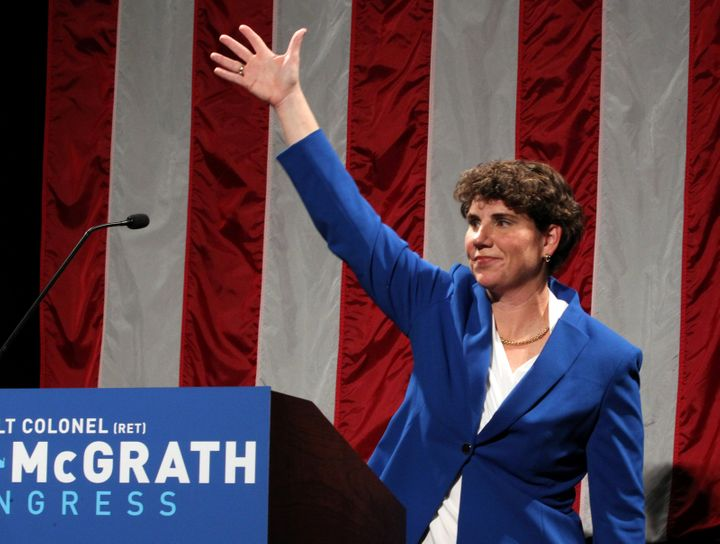 Amy McGrath defeated Charles Booker to win Kentucky's Democratic Senate primary in June. She will now face Senate Majority Le