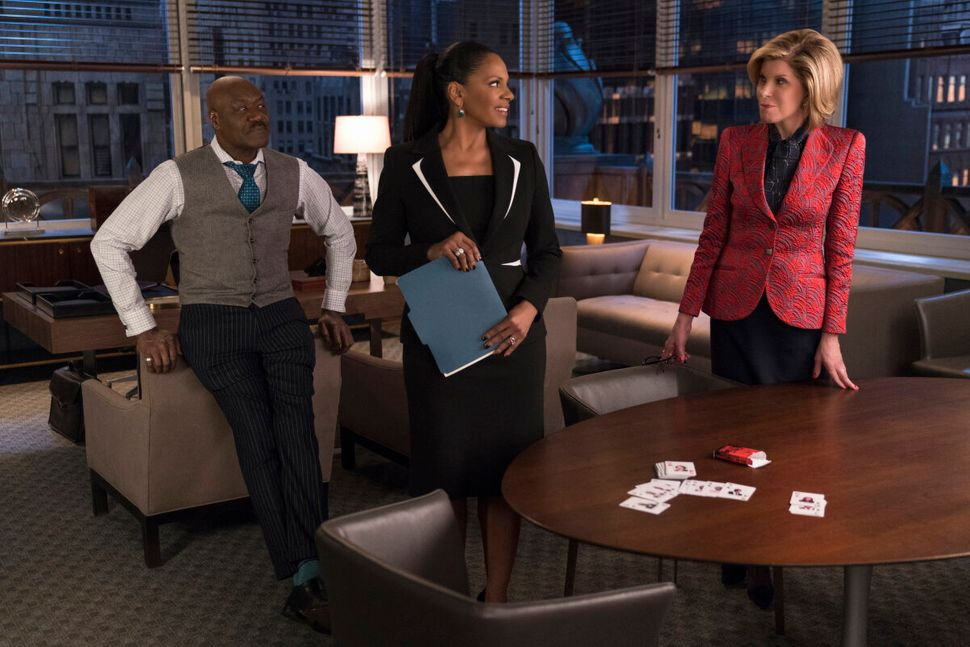 """Delroy Lindo, Audra McDonald and Christine Baranski in an episode of """"The Good Fight."""""""
