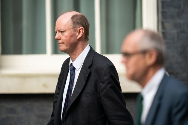 Chief Medical Officer Professor Chris Whitty (left) and Chief Scientific Adviser Sir Patrick Vallance...
