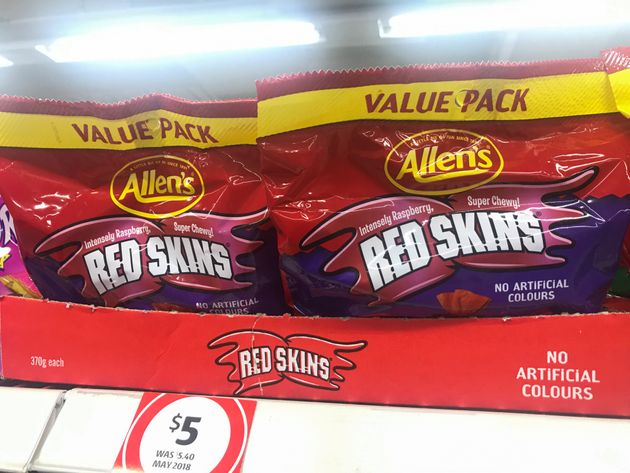 Confectionery products, Red Skins by Nestle are seen in a store in Sydney, Australia June 23, 2020. REUTERS/Jill