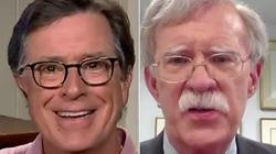 Colbert Hits 'Naive' Bolton Over Trump In Blunt Q&A: 'How Did You Not