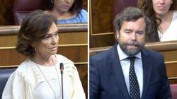 Espinosa de los Monteros provoca risas con su respuesta a Carmen Calvo: