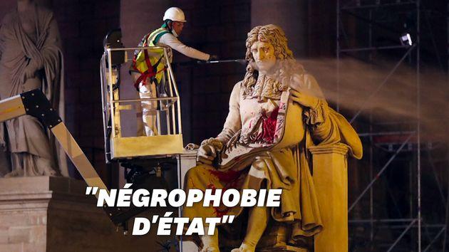 La statue de Colbert nettoyée dans la nuit du 23 au 24 juin