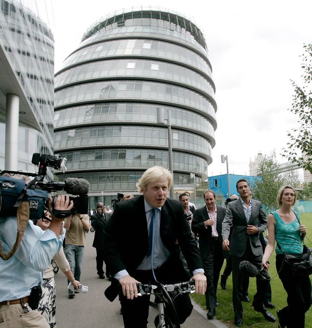 Boris Johnson launching his campaign to be mayor in