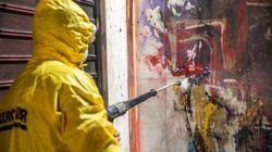 Επιχείρηση-Αντιγκράφιτι στην Πατησίων: Καθαρισμός σε μήκος ενός