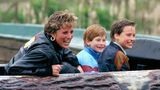 Diana Princess Of Wales, Prince William & Prince Harry Visit The 'Thorpe Park' Amusement Park. (Photo by Julian Parker/UK Press via Getty Images)