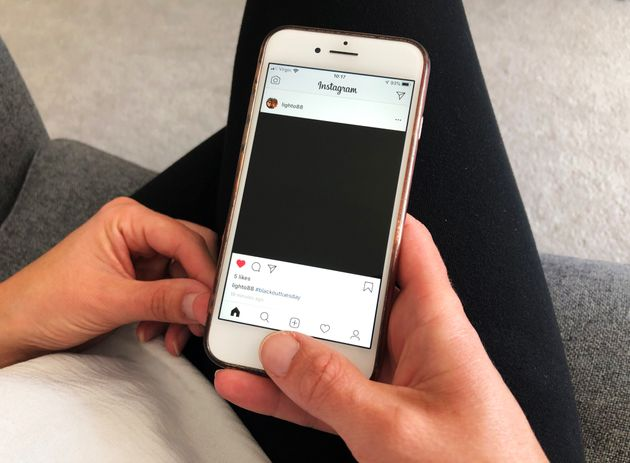 Instagram was taken over by black squares as part of the #blackouttuesday social media campaign, showing...
