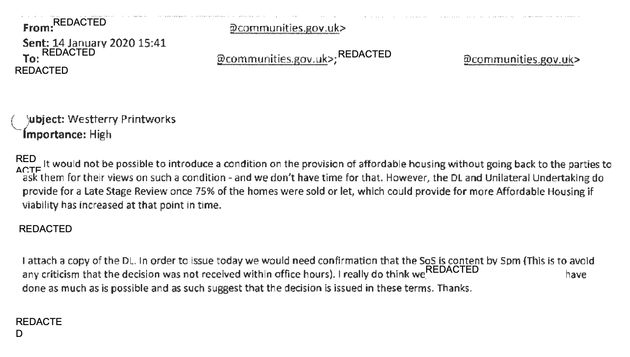 Papers Reveal How Jenrick's Department Ignored Need For Affordable Homes To Save Tory Donor