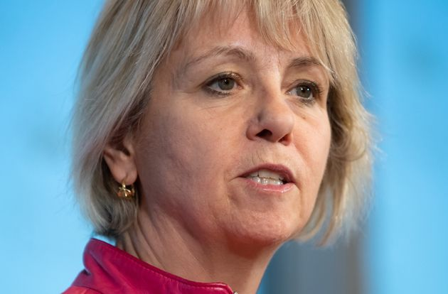 British Columbia provincial health officer Dr. Bonnie Henry speaks during a news conference in Vancouver...