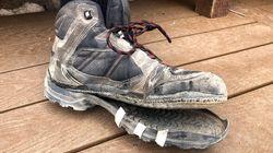 「グランドキャニオンは容赦のない環境です」ボロボロに裂けた靴の写真で高温注意を呼びかける