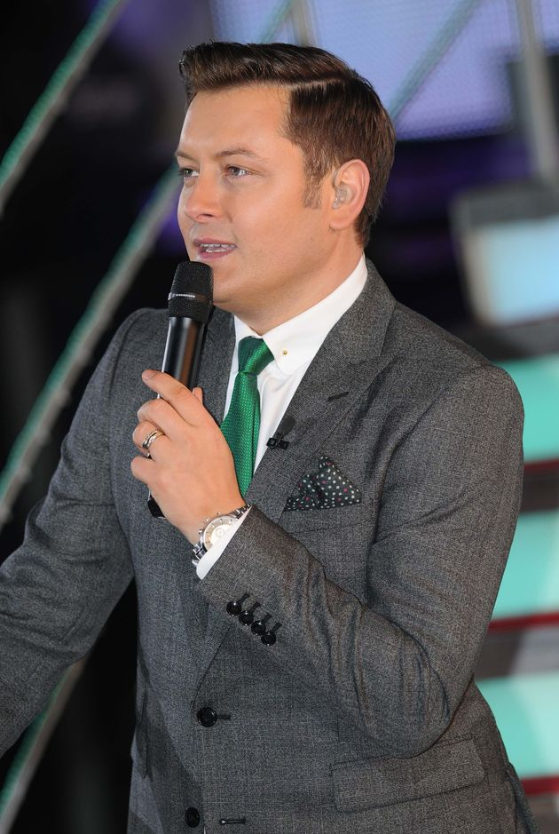 Brian presenting his final series of Celebrity Big Brother in