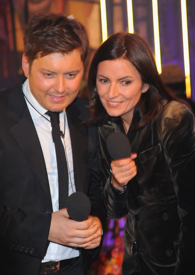 Brian Dowling and Davina McCall during the finale of Ultimate Big Brother in