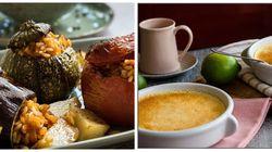 Κυριακάτικο Τραπέζι: Γεμιστά με καστανό ρύζι και λαχανικά και για γλυκό, πουτίγκα με βανίλια και