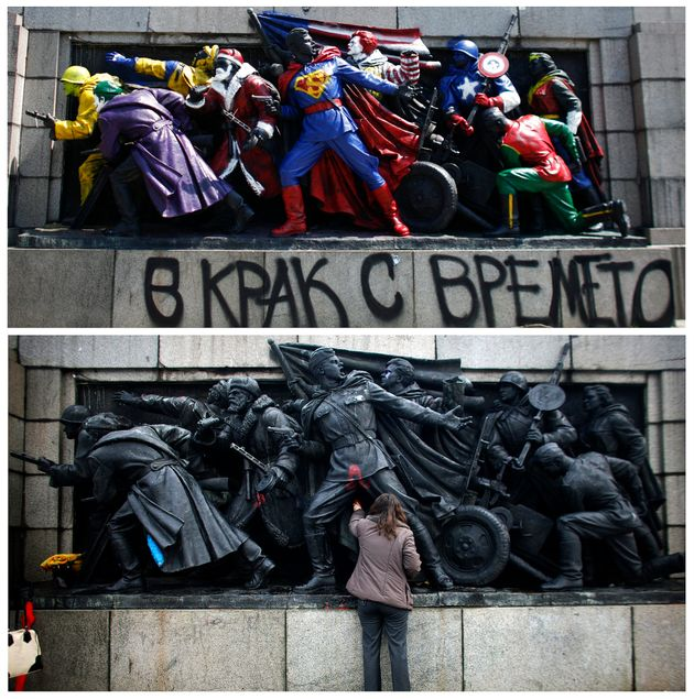 El monumento al ejército soviético, en el Jardín del Rey de