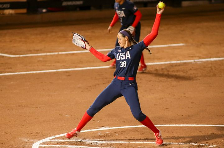Cat Osterman, a two-time Olympic gold medalist, said her pro team turned a nonpolitical moment into a shoutout to Donald Trum