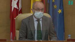 El toque de atención del presidente de la Asamblea de Madrid a los diputados por las